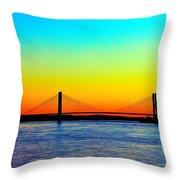 Evening Bridge Throw Pillow