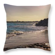Evening By The Beach Throw Pillow