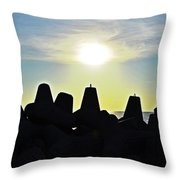 Evening By The Sea Throw Pillow