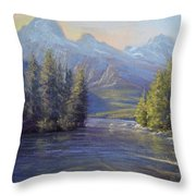 Evening Calm, Taggart Lake Throw Pillow