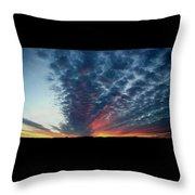 Evening Sky In Kansas Throw Pillow