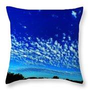 Evening Clouds Throw Pillow