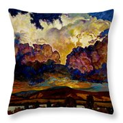Evening Clouds Over The Valley Throw Pillow