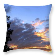 Evening Color Throw Pillow