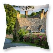 Evening Cottage Throw Pillow
