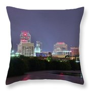 Evening Falls On Indianapolis Throw Pillow