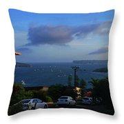 Evening For Sailing Throw Pillow