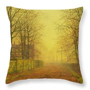 Evening Glow Throw Pillow by John Atkinson Grimshaw
