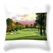 Evening Golf Course Scene Throw Pillow