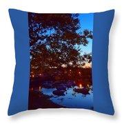 Evening Harbor Lights Throw Pillow
