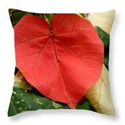 Evening Hau Tree Leaves Throw Pillow