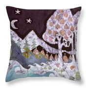 Evening In A Gentle Place Throw Pillow