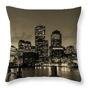 Evening In Boston Throw Pillow