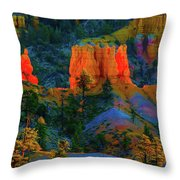 Evening In Bryce Canyon Throw Pillow