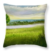 Evening In Calm Throw Pillow