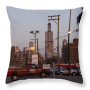 Evening In Chicago Throw Pillow