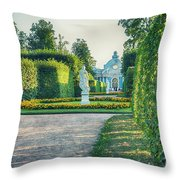 Evening In Classic Park Throw Pillow by Ariadna De Raadt