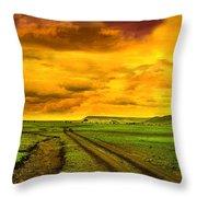 Evening In Masai Mara Throw Pillow