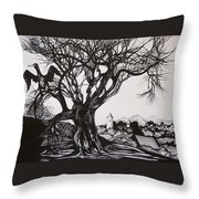 Evening In Midnapore Throw Pillow