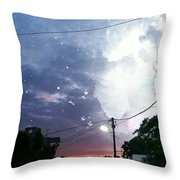 Evening In My City Throw Pillow