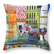 Evening In New York Throw Pillow