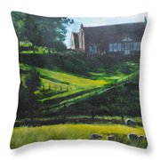 Evening In North Wales Throw Pillow
