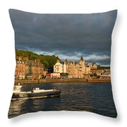 Evening In Oban Throw Pillow