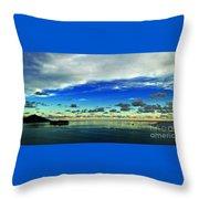 Evening In Paradise Panoramic Throw Pillow