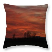 Evening In Red Throw Pillow