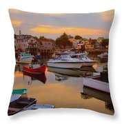 Evening In Rockport Throw Pillow
