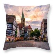 Evening In Schorndorf Throw Pillow by Dmytro Korol