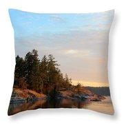 Evening In Smuggler Cove Throw Pillow