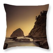 Evening In The Cove Throw Pillow