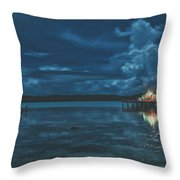 Evening In The Lagoon Throw Pillow
