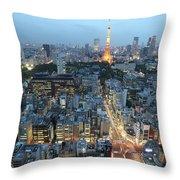 evening in Tokyo Throw Pillow