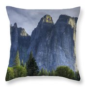 Evening In Valley Throw Pillow