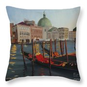 Evening In Venice Throw Pillow