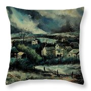 Evening Is Falling  Throw Pillow