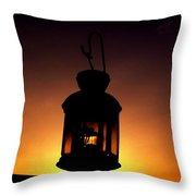 Evening Lantern Throw Pillow