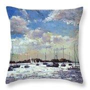 Evening Light - Gulf Of Morbihan Throw Pillow