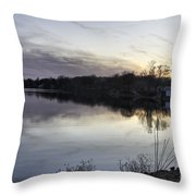 Evening Light On Lake Champlain Throw Pillow