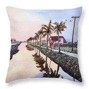 Evening Light Paramaribo Suriname Throw Pillow