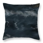 Evening Lights And Rocks Throw Pillow