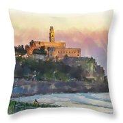 Evening Mood In Jaffa Throw Pillow