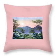 Evening Moonrise Throw Pillow