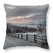 Evening Mountain Glow Throw Pillow