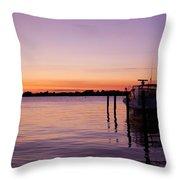 Evening Of Peace - Jersey Shore Throw Pillow