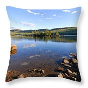 Evening On Cedar Lagoon Pine Lake Throw Pillow
