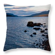 Evening On Loch Rannoch Throw Pillow