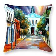 Evening On Orleans Street Throw Pillow